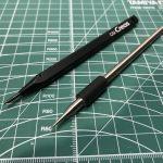 筋彫アイテム・けがき針とラインチゼルの比較